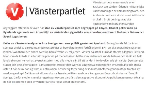 Björk om vänsterpartiet